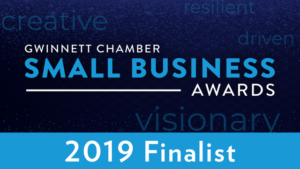 Gwinnett Chamber Small Business Awards Finalist 2019